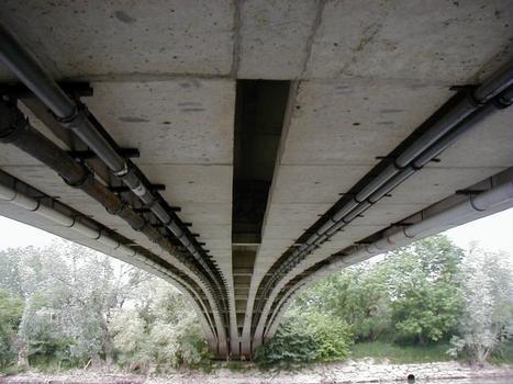 Pont d'Esbly.Sous-face du tablier