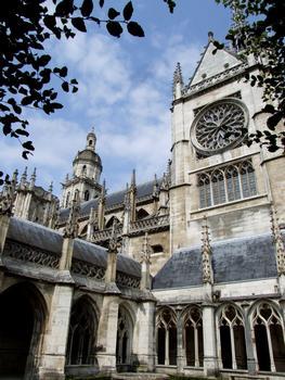 Evreux - Cathédrale Notre-Dame - Transept sud et cloître