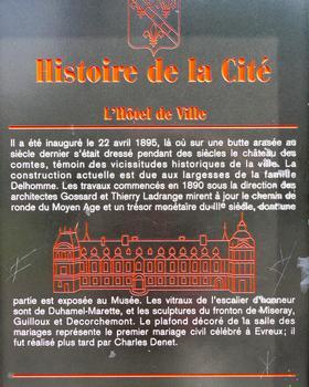 Evreux - Hôtel de ville - Panneau d'information