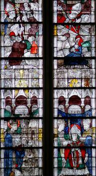 Evreux - Eglise Saint-Taurin - Abside - Vitrail de la vie de saint Taurin (15ème siècle) : Evreux - Eglise Saint-Taurin - Abside - Vitrail de la vie de saint Taurin (15 ème siècle)