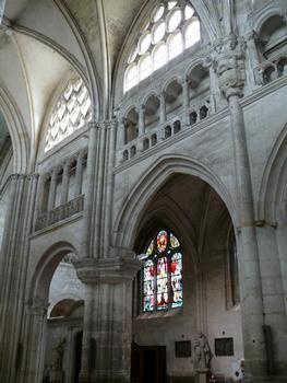 Evreux - Eglise Saint-Taurin - Nef - Elévation du côté sud