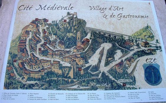 Stadtplan von Eze