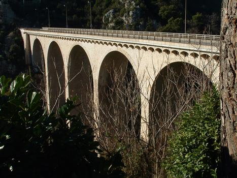 Eze - Viaduc de la RN7 sur le vallon de l'Aighetta