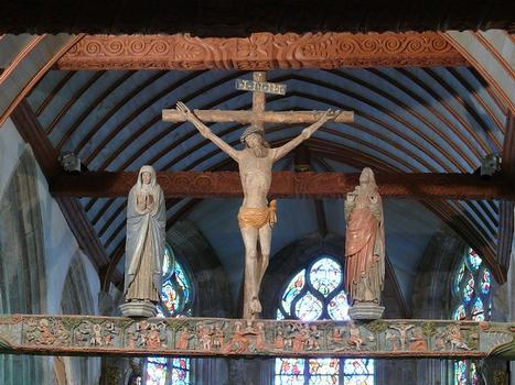 Lampaul-Guimiliau - Eglise Notre-Dame et enclos paroissial - Poutre de gloire
