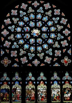 Saint-Pol-de-Léon - Eglise Saint-Paul-Aurélien - Rose du bras sud du transept