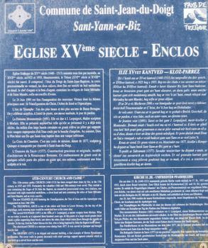 Saint-Jean-du-Doigt - Eglise Saint-Jean-Baptiste - Panneau d'information