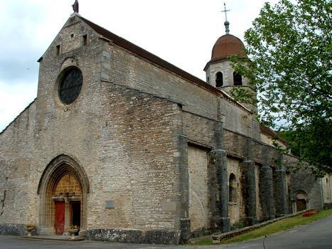 Gigny-sur-Suran - Abbariale - Ensemble vu de l'ouest
