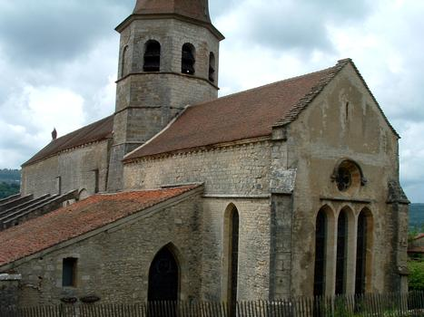 Gigny-sur-Suran - Abbariale - Ensemble vu du chevet