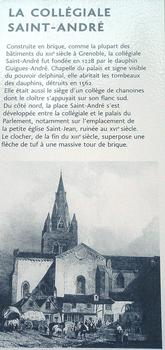 Grenoble - Collégiale Saint-André - Panneau d'information
