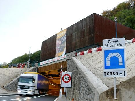 Tunnel Maurice-Lemaire - Entrée du tunnel côté Sainte-Marie-aux-Mines
