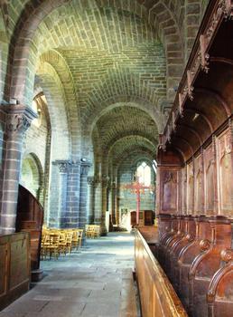 Chanteuges - Prieuré - Eglise priorale Saint-Marcellin - Bas-côté