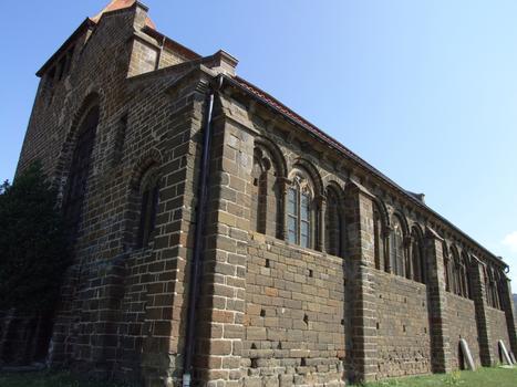 Chanteuges - Prieuré - Eglise priorale Saint-Marcellin - Extérieur
