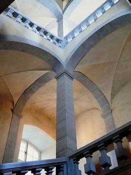 Abbaye de La Chaise-Dieu - Bâtiments monastiques - Escalier du 17ème siècle