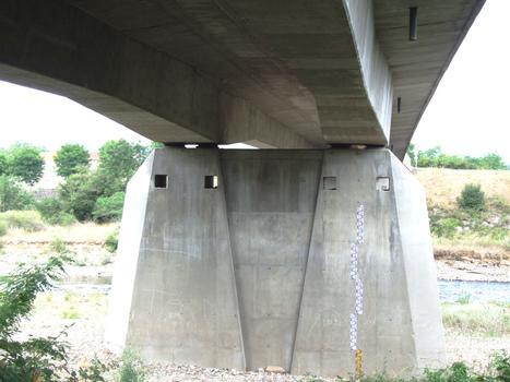 Nouveau pont de Lamothe - Pile et tablier