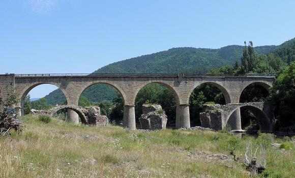 Eisenbahnstrecke Firminy - Le Puy – Viaduc aval de Lavoûte-sur-Loire – Vieux pont