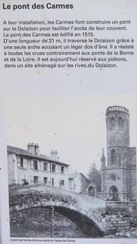 Le Puy-en-Velay - Pont des Carmes - Panneau d'information