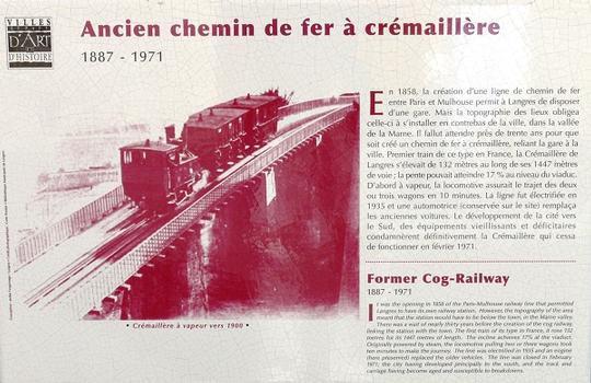 Viaduc de chemin de fer à crémaillère de Langres - Panneau d'information