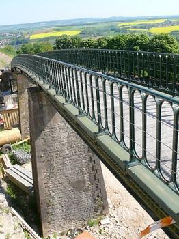 Viaduc de chemin de fer à crémaillère de Langres - Le viaduc vu des remparts