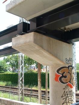 Montpellier - Viaduc Alphonse Loubat - Pile avec joint