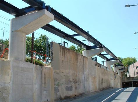 Montpellier - Viaduc Alphonse Loubat - Charpente métallique