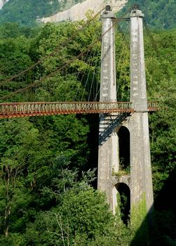 Vinay - Ancien pont suspendu de Trellins - Pylône