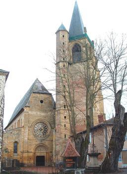 Abbaye de La Bénisson-Dieu - Eglise abbatiale - Façade occidentale et clocher