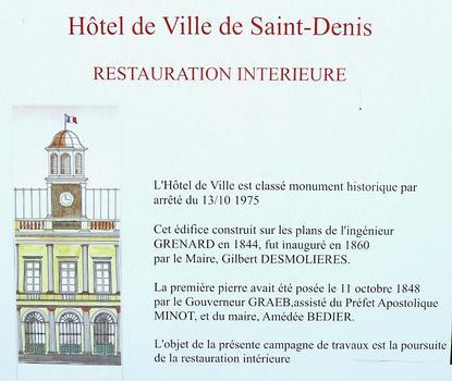 Saint-Denis - Ancien hôtel de ville - Panneau d'information