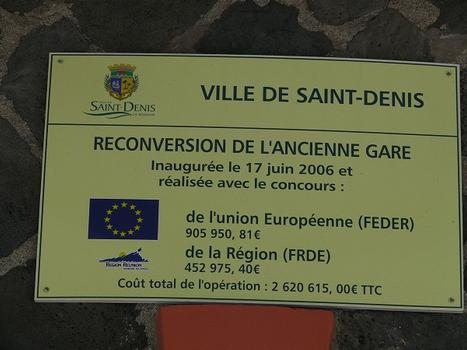 Former Saint-Denis railway station - information board