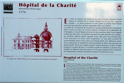 Langres - Hôpital de la Charité - Panneau d'information