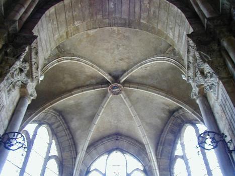 Cathédrale Saint-Mammès de Langres.Voûte d'une chapelle du chevet