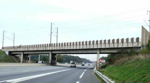 TGV Atlantik - Brücke über die A 10