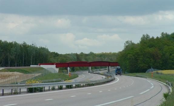 LGV Est Européenne - Lot 13 - Viaduc de l'Orxois - Franchissement de l'autoroute A4 près de Château-Thierry - Ensemble côté ouest