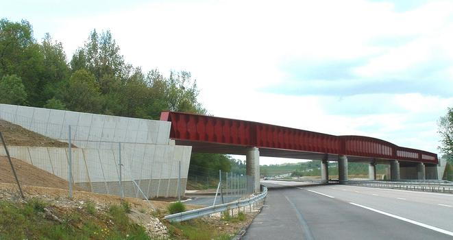 LGV Est Européenne - Lot 13 - Viaduc de l'Orxois - Franchissement de l'autoroute A4 près de Château-Thierry - Ensemble côté Est