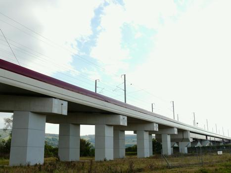 TGV East/Europe - Vandières Bridge & Mosel Canal Viaduct