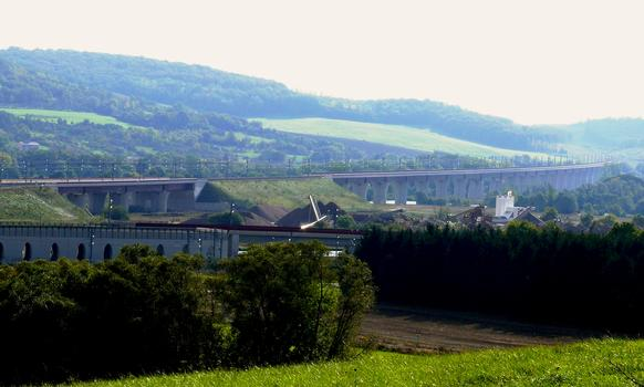 TGV Ost/Europa - Moselflutbrücke mit Anschlußbauwerk zur Eisenbahnstrecke Metz-Nancy