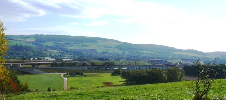 TGV Ost/Europa - Anschlußbauwerk zur Eisenbahnstrecke Metz-Nancy und Moselkanalviadukt