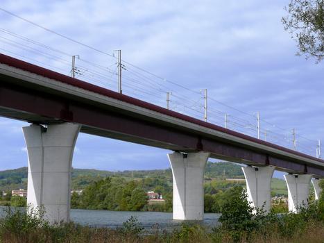 LGV Est-Européenne - Viaduc de la Moselle - Franchissement d'une ancienne gravière