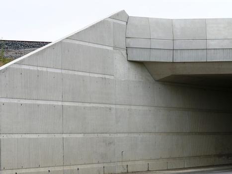 LGV Est Européenne - Pont-rail de franchissement du RD910 - Détail