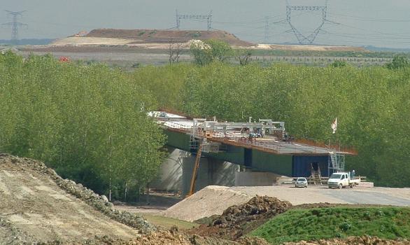 TGV Ost-Europa Viaduc de Clay-Souilly im Bau