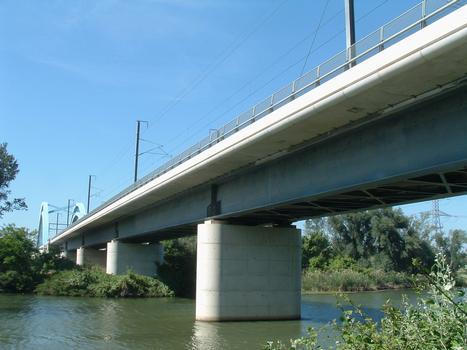 LGV Méditerranée - Viaduc de Mondragon - Ensemble