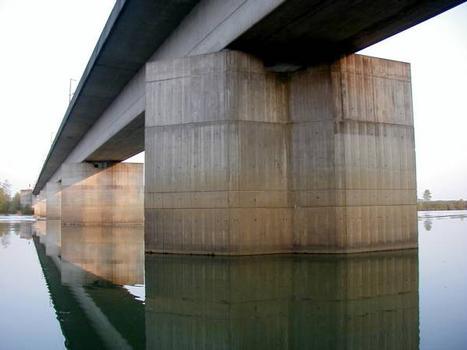 High-speed Rail Line Paris-South East Saone Viaduct.