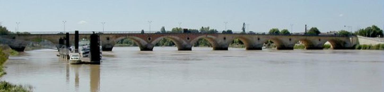 Dordogne Bridge at Libourne.