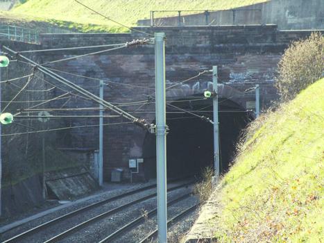 Ligne de chemin de fer Nancy - Strasbourg - Tunnel d'Arzviller à côté du canal de la Marne au Rhin, côté est