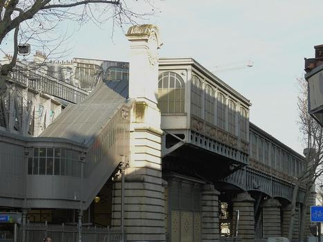 Ligne du Métro n°2 - Station de métro Barbès - Rochechouart (Ligne 2)