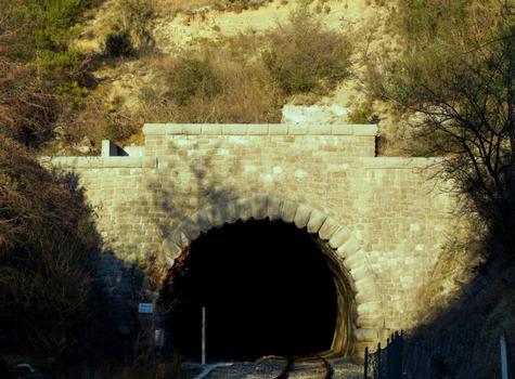 Ligne Nice - Coni - Sospel - Tunnel du Mont-Grazian (3891 m) - Entrée côté Sospel près du viaduc de la Bévera