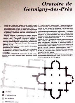 Germigny-des-Près - Oratoire carolingien - Panneau d'information
