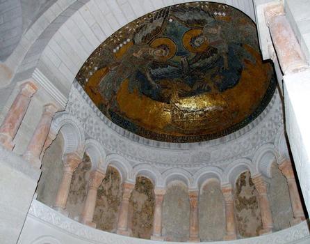 Germigny-des-Près - Oratoire carolingien - La chapelle Est et la mosaïque