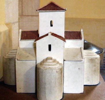 Germigny-des-Près - Oratoire carolingien - Une maquette représentant l'oratoire initial