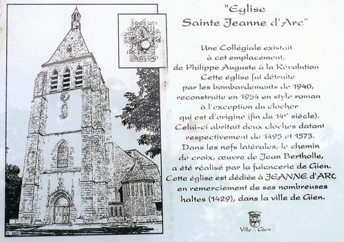 Gien - Eglise Sainte-Jeanne-d'Arc - Panneau d'information
