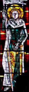 Gien - Eglise Sainte-Jeanne-d'Arc - Vitrail: Jeanne d'Arc